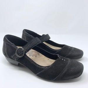 Taos Black Suede Leather Virtue Mary Janes 9